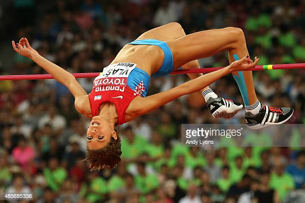 Blanka Vlasic of Croatia competes in the Women's High Jump final during day eight of the 15th IAAF World Athletics Championships Beijing 2015 at...