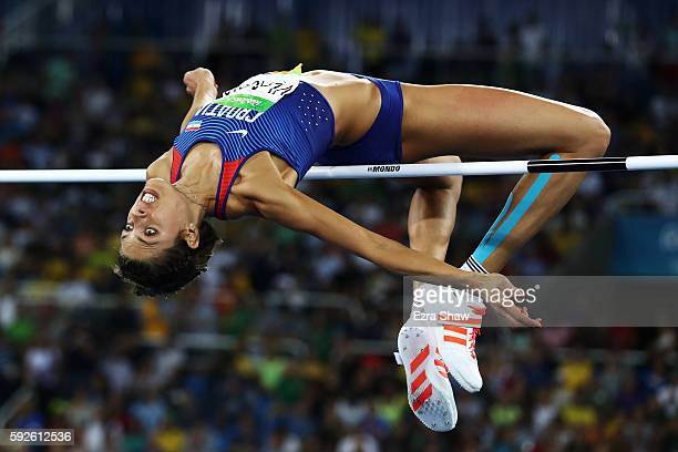 Blanka Vlasic of Croatia competes in the Women's High Jump final on Day 15 of the Rio 2016 Olympic Games at the Olympic Stadium on August 20 2016 in...