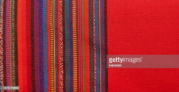 blanket detail with latin american color pattern - formation stockfoto's en -beelden