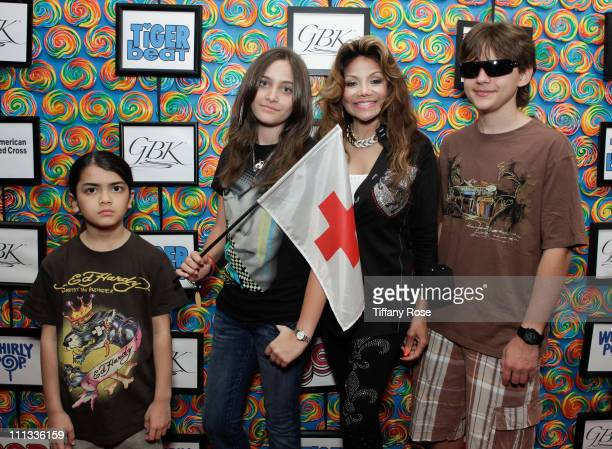 Blanket Jackson Paris Jackson Latoya Jackson and Prince Jackson support Japan Relief for the American Red Cross at the GBK Gift Lounge at SLS Hotel...