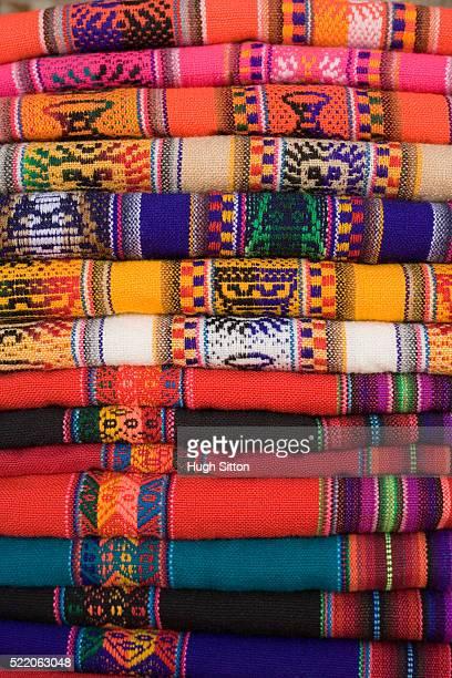blankets with traditional patterns - hugh sitton stock-fotos und bilder