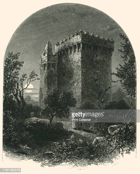 Blarney Castle' circa 1870 15th century Blarney Castle built in 1446 by Cormac Laidir MacCarthy From Picturesque Europe The British Isles Vol I...