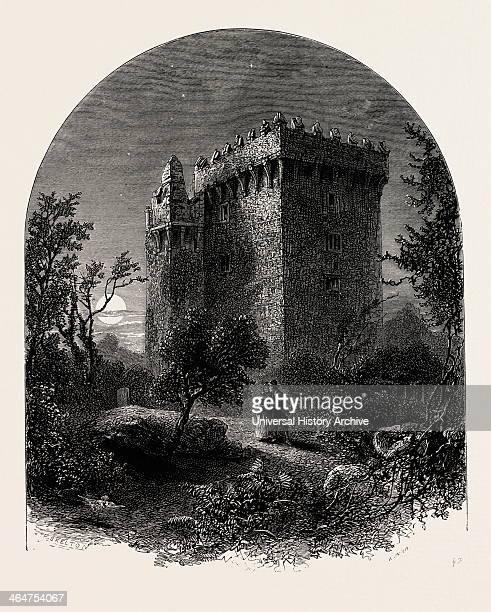 Blarney Castle Ireland Irish Eire 19th Century Engraving