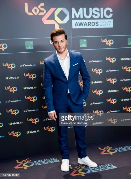 Blas Canto attends 40 Principales Awards candidates dinner 2017 on September 14 2017 in Madrid Spain