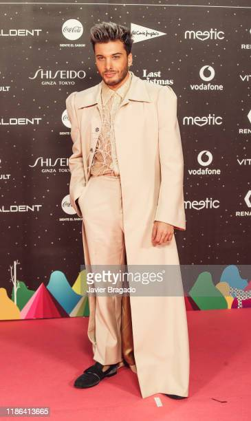 Blas Canto attends 'Los40 music awards 2019' photocall at Wizink Center on November 08 2019 in Madrid Spain