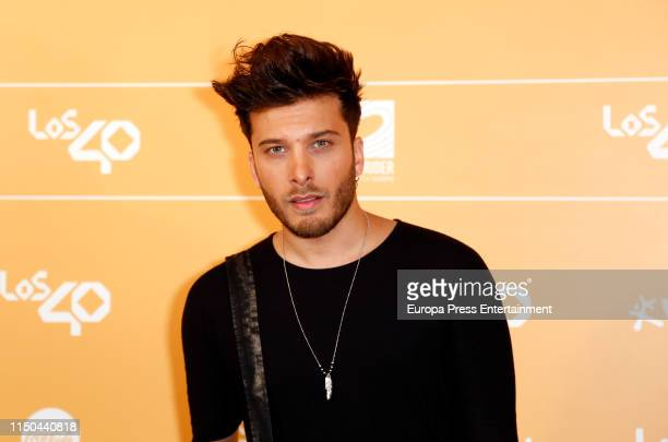 Blas Canto attends LOS40 Primavera Pop festival at Madrid WiZink Center on May 17 2019 in Madrid Spain