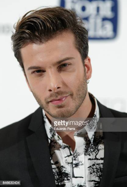 Blas Canto attends the 'Yo Dona MBFW opening party' photocall at Barcelo hotel on September 13 2017 in Madrid Spain