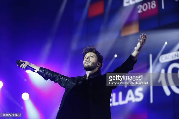 Blas Canto during the Cadena 100 'Por ellas' Photocall at Wizink Center on October 20 2018 in Madrid Spain