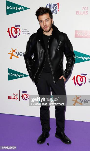 Blas Canto performs during the concert Cadena 100 por Ellas whose benefits go to the Spanish Association Against Cancer for the fight against breast...