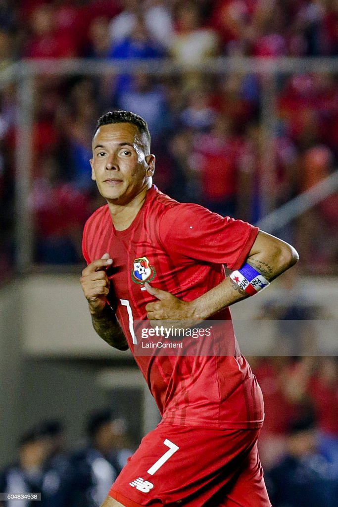 Blas Perez of Panama runs in the field during the match between Cuba and Panama as part of the Copa America Centenario Qualifiers at Rommel Fernandez Stadium on January 08, 2016 in Panama City, Panama.