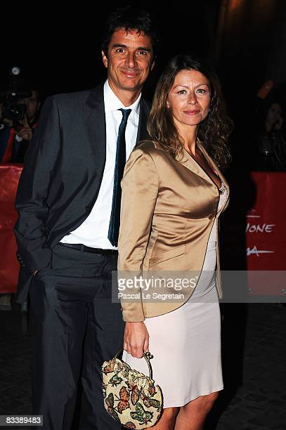 Blas Roca Rey and Amanda Sandrelli attend the Opening Ceremony Dinner Honoring Al Pacino during the 3rd Rome International Film Festival held at the...