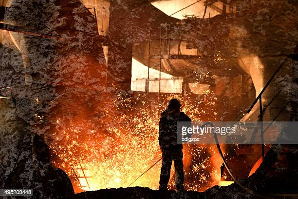 blast furnace iron - metal industry stock pictures, royalty-free photos & images