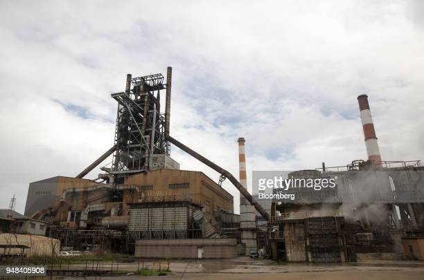 A blast furnace stands at the Nippon Steel Sumitomo Metal Corp plant in Kashima Ibaraki Japan on Wednesday April 18 2018 President Donald Trump and...