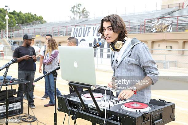 Blaze attends the Michelle Obama And WATAAH Foundation Move Your Body 2013 at Hollywood High School on May 1 2013 in Los Angeles California