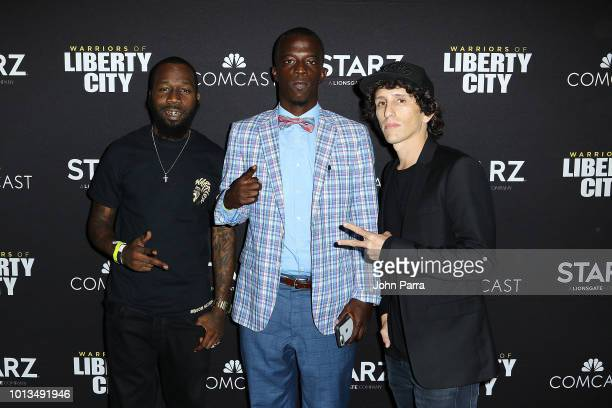 Blaze Carter Herbert Richie and Evan Rosenfeld attend Miami Screening Of STARZ Warriors Of Liberty City on August 8 2018 in Miami Florida