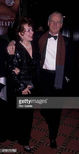 Blaze Starr and Paul Newman attend Blaze on December 12 1989 at the Ziegfeld Theater in New York City