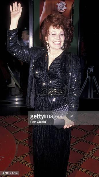 Blaze Starr attends Blaze on December 12 1989 at the Ziegfeld Theater in New York City