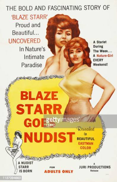 Blaze Starr Goes Nudist poster Blaze Starr on poster art 1962