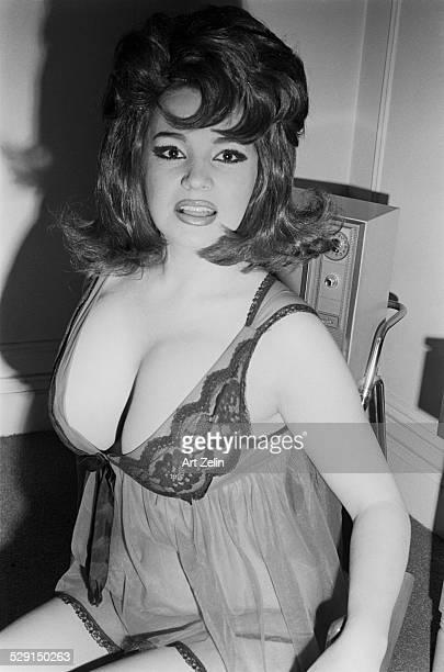 Blaze Starr wearing a negligee circa 1970 New York