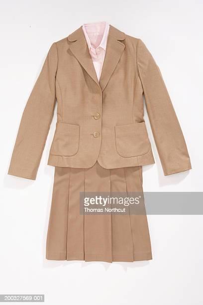 Blazer, button down shirt and skirt
