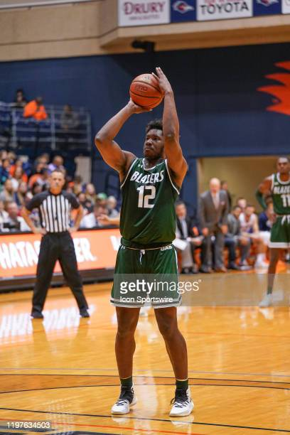 Blazers forward Will Butler shoots a free throw during the NCAA game between the UAB Blazers and the UTSA Roadrunners on January 30 2020 at the UTSA...