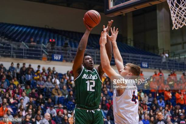 Blazers forward Will Butler shoots during the NCAA game between the UAB Blazers and the UTSA Roadrunners on January 30 2020 at the UTSA Convocation...