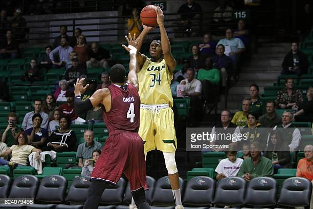 Blazers forward William Lee takes a jump shot in the game between the Troy Trojans and the UAB Blazers on November 17 2016 UAB defeated Troy by the...