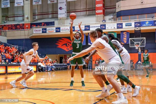Blazers guard Tavin Lovan shoots a free throw during the NCAA game between the UAB Blazers and the UTSA Roadrunners on January 30 2020 at the UTSA...