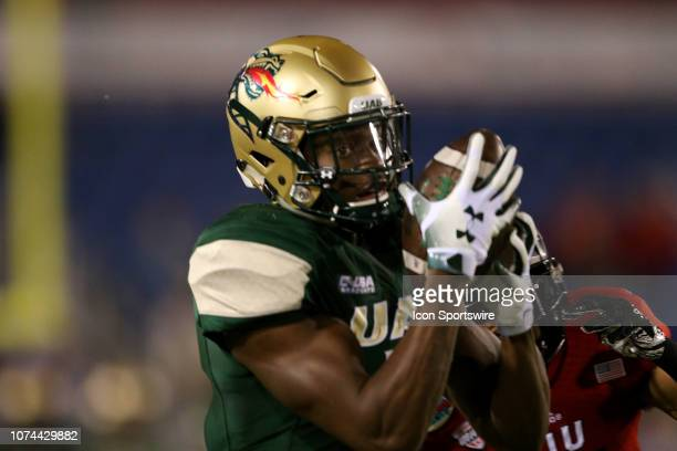 Blazers wide receiver Xavier Ubosi makes his first of three touchdown receptions against the Northern Illinois Huskies during the first quarter of...