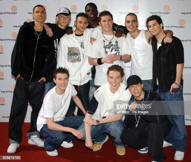 Blazin' Squad arrive for the Top Of The Pops Live relaunch show at BBC Television Centre in London