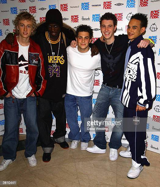 Blazin' Squad attend the Make Some Noise children's concert at Grosvenor House on December 14 2003 in London