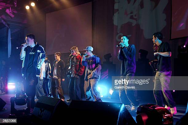 Blazin Squad perform at The Great Ormond Street Hospital Charity Fundraiser on December 14 2003 at the Grosvenor House Hotel in London