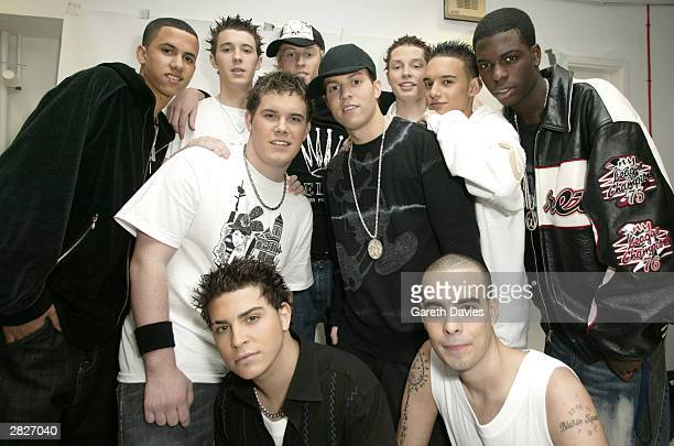 Blazin Squad pose at the launch of the all new Top Of The Pops at BBC Television Centre on November 28 2003 in London