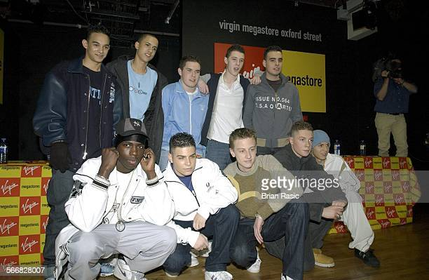 Blazin' Squad Signing At Virgin Megastore London Britain 11 Feb 2003 Blazin' Squad