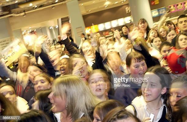 Blazin' Squad Signing At Virgin Megastore London Britain 11 Feb 2003 Fans