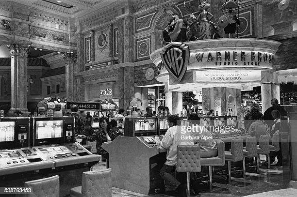 Blazing 777 slot machines in Caesar's Palace in Las Vegas Nevada January 1996