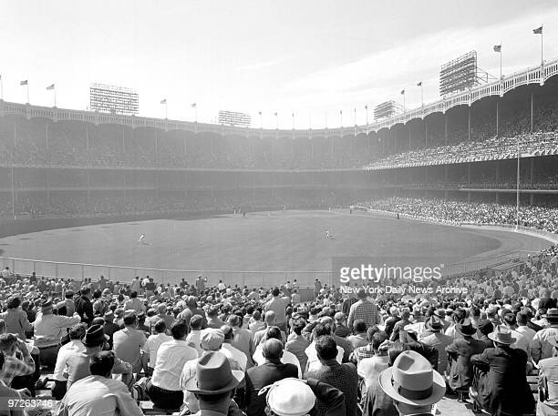 Bleacher view of Yankee Stadium during World Series