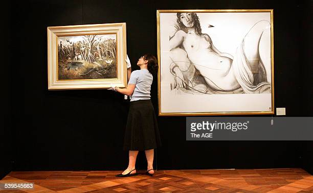 Bleasel Collection to be Auctioned at Christies The Bush Pond by Arthur Boyd Reclining Nude by Brett Whiteley 21st March 2005 THE AGE NEWS Picture by...