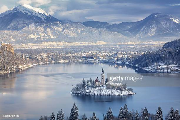 bled island - slovenia stock pictures, royalty-free photos & images