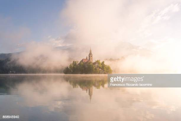 bled, slovenia - fairytale stock pictures, royalty-free photos & images