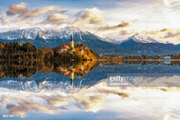 bled, upper carniola, slovenia, europe - slovenia stock pictures, royalty-free photos & images