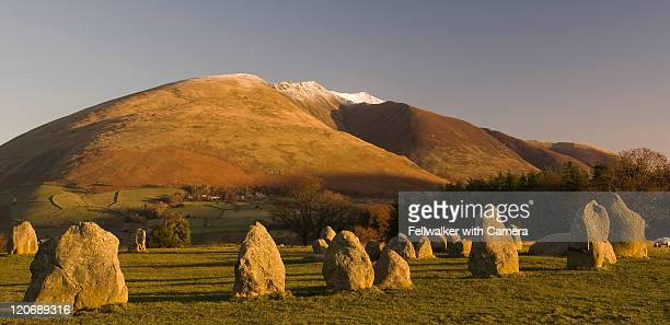 blencathra from castlerigg - blencathra stock photos and pictures