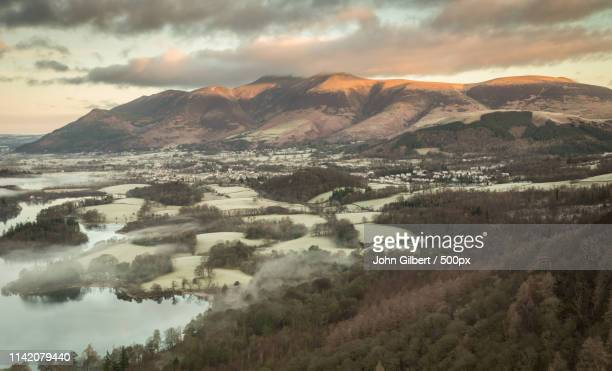 blencathra from walla crag - blencathra stock photos and pictures