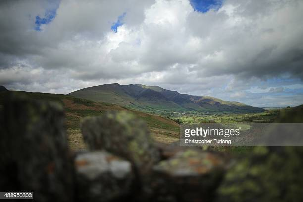 Blencathra Mountain, which is up for sale for 1.75M GBP, overlooks the Lake District fells on May 9, 2014 in Keswick, United Kingdom. The Earl of...