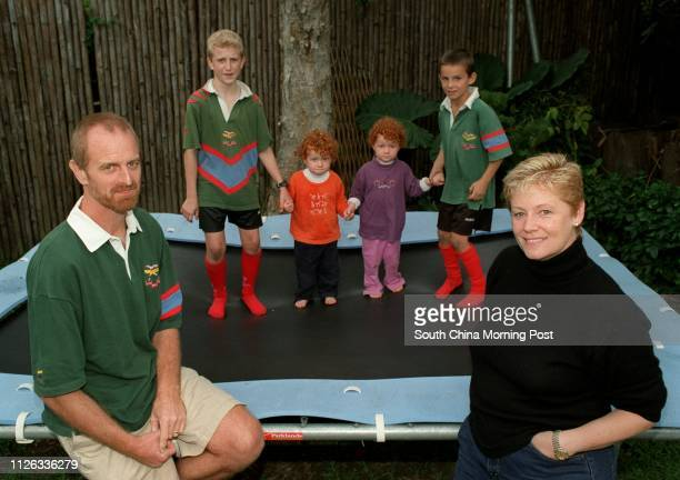 A blended family for families story Megan Davies and Peter Inglis have a family with one child from each marriage Sam and James twins of their own...