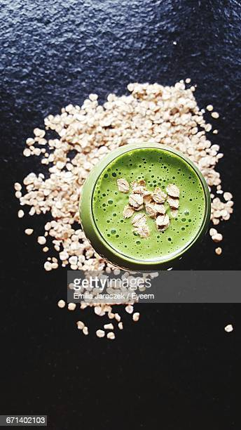 Blended Smoothie With Granola Sprinkled