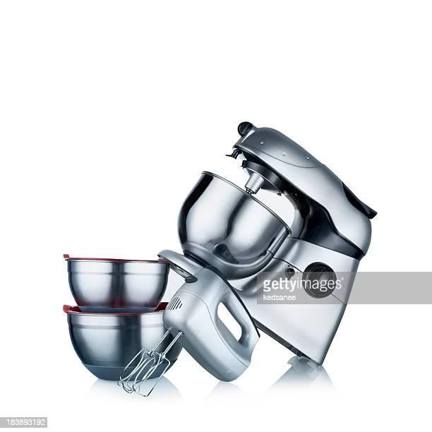 Blender and Mixer isolated on white