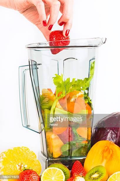 blending fruits and vegetables