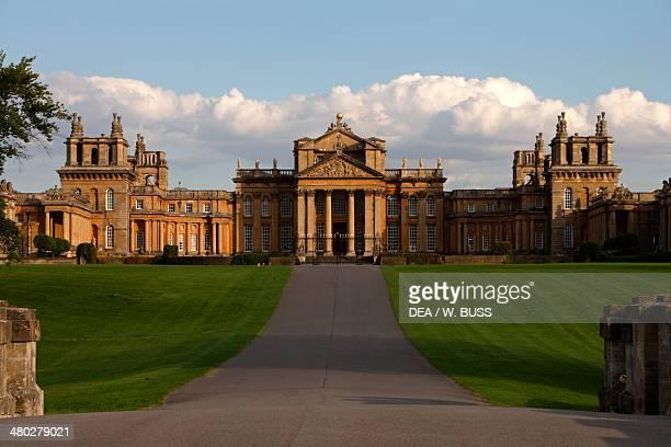 Blenheim Palace, 1705-1722, English Baroque style, architect John Vanbrugh , birthplace of Winston Churchill, Woodstock, Oxfordshire, United Kingdom.