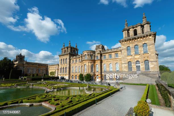 blenheim palace in woodstock, oxfordshire, england - blenheim palace stock pictures, royalty-free photos & images